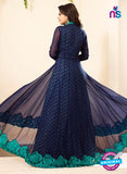 SC12717 Blue and Green Georgette Party Wear Designer Gawn