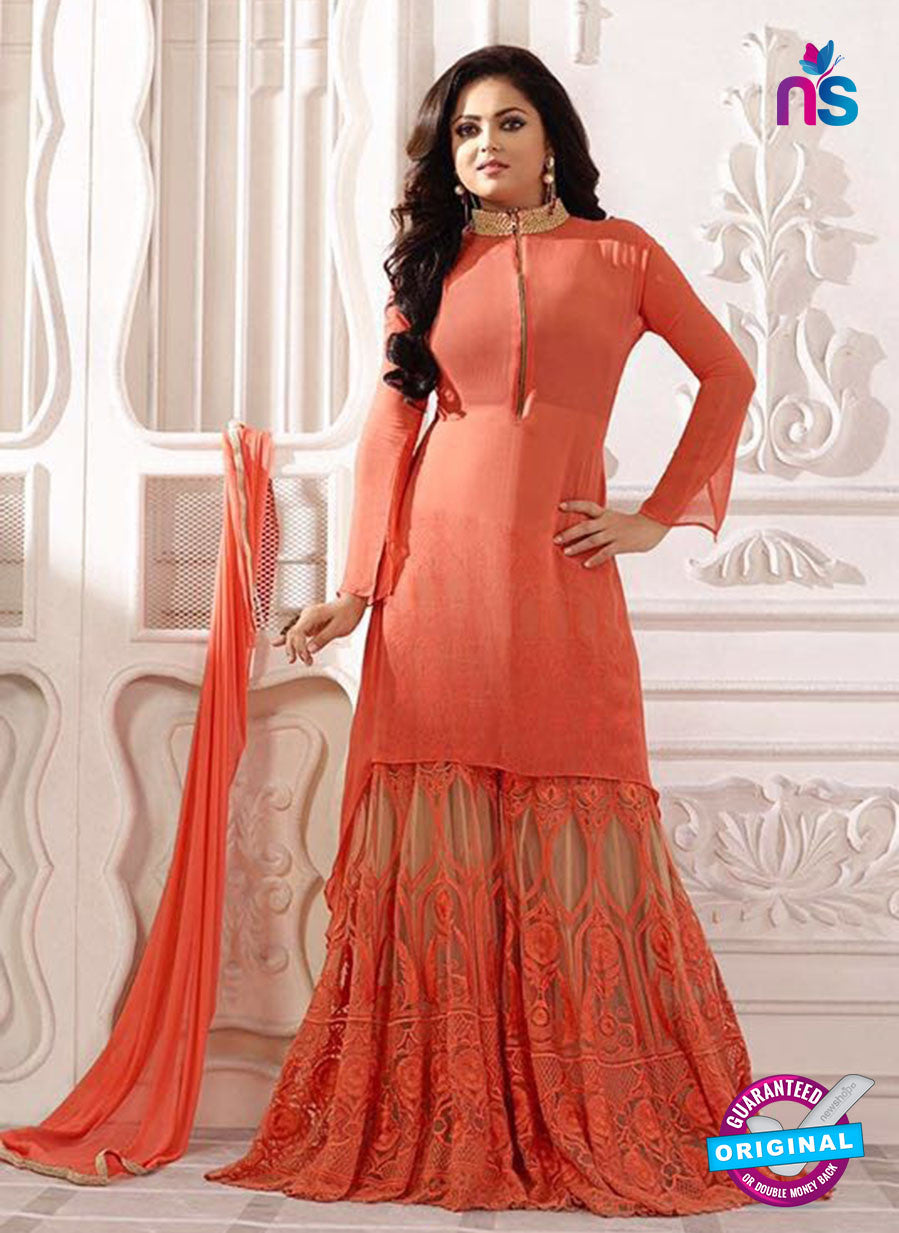 SC12720 Peach Georgette Party Wear Designer Suit