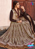 AZ 1050 Brown and Beige Embroidered Cotton Silk Anarkali Suit - Anarkali Suits - NEW SHOP