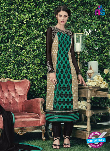 Jinaam 8658 A Green Chiffon Plazo Suit