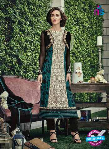 Jinaam 8660 A Sea Green Chiffon Plazo Suit