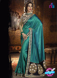 SC 12972 Blue and Black Silk Party Wear Designer Saree