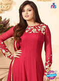 LT 88001 Red Embroidered Georgette Party Wear Designer Suit