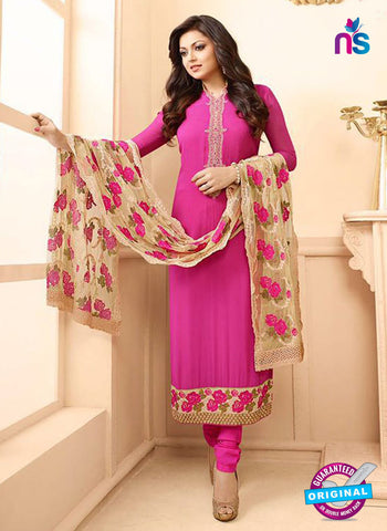 LT 88005 Pink and Beige Embroidered Georgette Party Wear Designer Suit