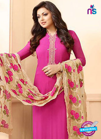 LT 88005 Pink and Beige Embroidered Georgette Party Wear Designer Suit Online