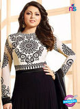LT 88007 White and Black Embroidered Georgette Party Wear Designer Gawn