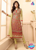 LT 88010 Multicolor and Yellow Embroidered Georgette Party Wear Designer Suit