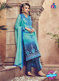 Omtex 88 Blue Georgette Suit