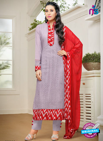 MF 89003 Purple Cambric Cotton Plazo Suit