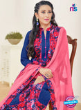 MF 89004 Blue Cambric Cotton Plazo Suit Online