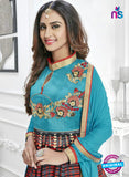 SC 14239 Sky Blue Satin Designer Anarkali Suit