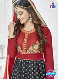 SC 14240 Red Satin Designer Anarkali Suit