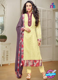 MF 89009 Yellow Cambric Cotton Plazo Suit
