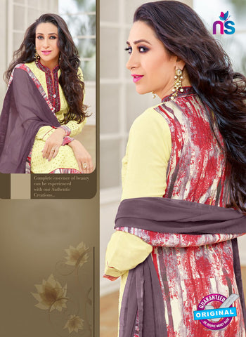 MF 89009 Yellow Cambric Cotton Plazo Suit Online