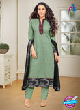 MF 89010 Green Cambric Cotton Plazo Suit