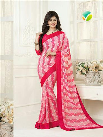 Vinay Fashion Star Walk 16983  Pink and Magenta Party Wear Georgette Saree