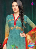 MF 90001 Sea Green Faux Georgette Pakistani Suit