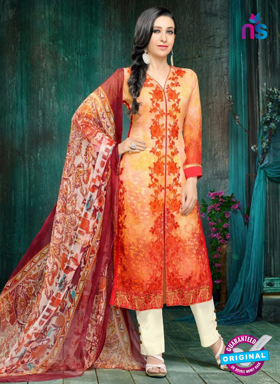 MF 90003 Orange Faux Georgette Pakistani Suit