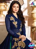 LT 90003 Beige and Blue Embroidered Georgette Party Wear Desiger Gawn