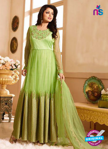 LT 90004 Green Embroidered Net Party Wear Desiger Gawn
