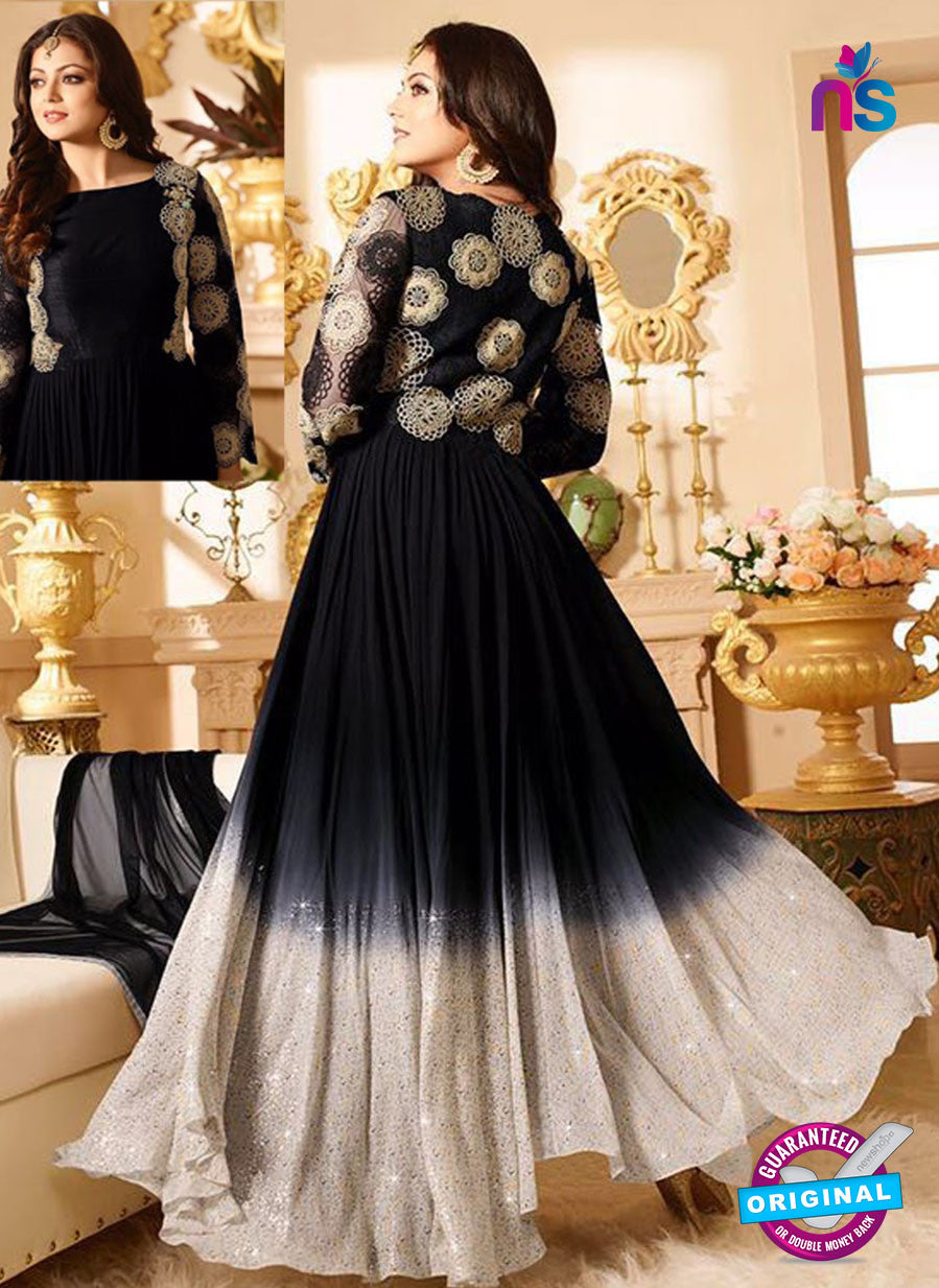 LT 90005 Black and Beige Embroidered Georgette Party Wear Desiger Gawn