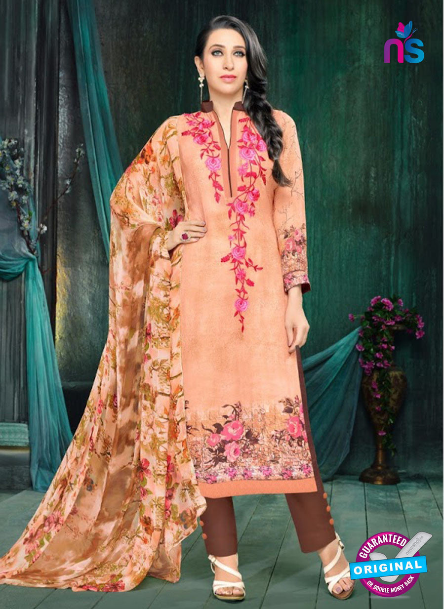 MF 90005 Peach Faux Georgette Pakistani Suit
