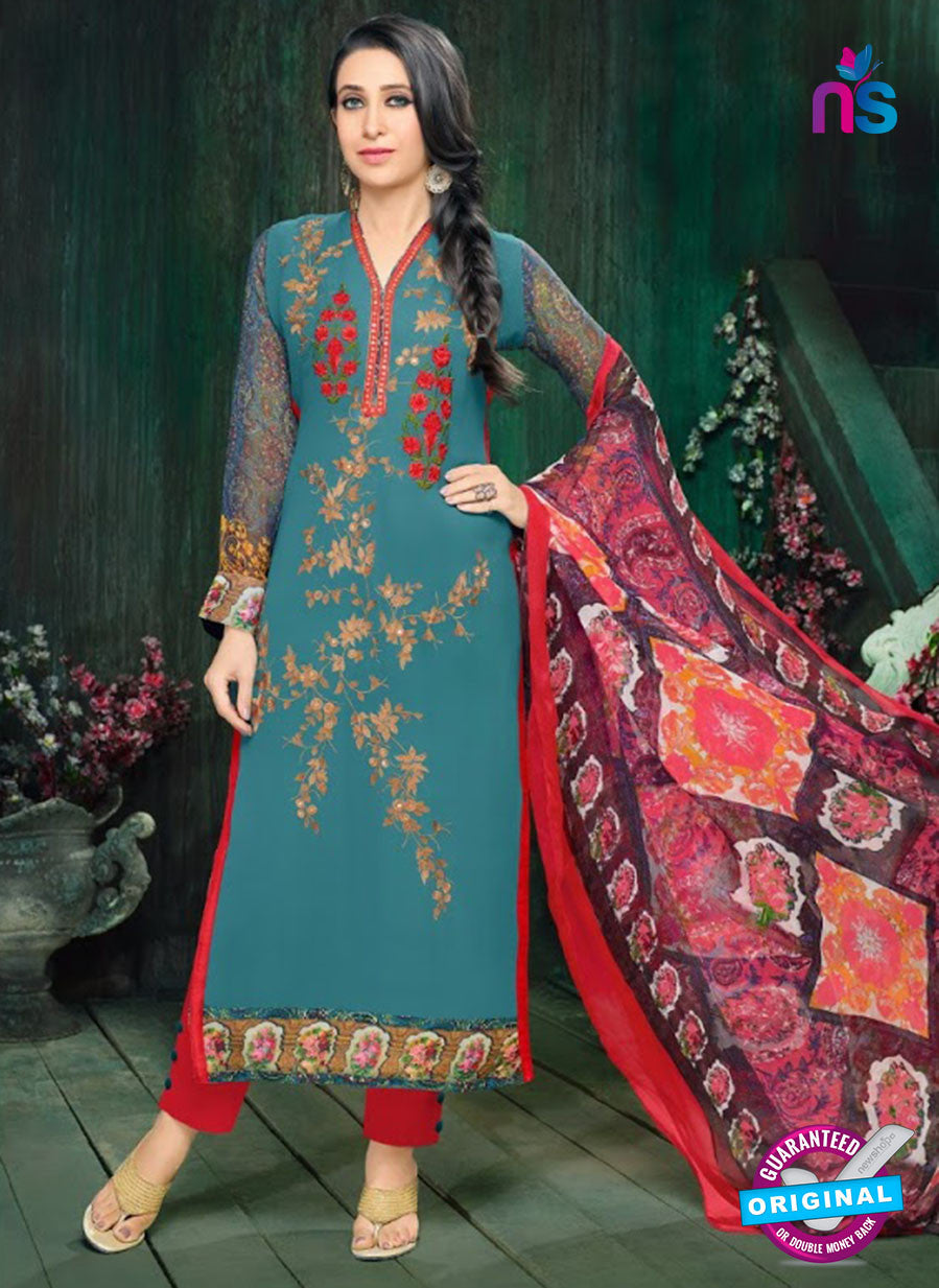 MF 90006 Sky Blue Faux Georgette Pakistani Suit