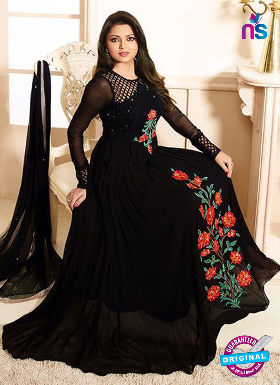 LT 90007 Black Embroidered Georgette Net Party Wear Desiger Gawn