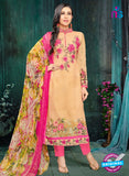 MF 90010 Peach Faux Georgette Pakistani Suit
