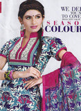 Sunshine 9001 C  Pink & Blue Color Cotton Designer Suit