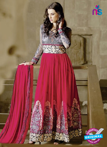 AZ 2032 Pink Embroidered Heavy Georgette Anarkali Suit