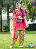 KalaKirti 9001 Pink and Multicolor Cotton Designer Suit