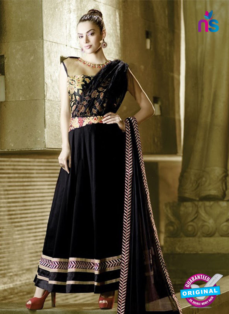 AZ 2033 Black Embroidered Heavy Georgette Anarkali Suit