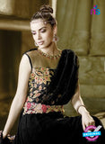 AZ 2033 Black Embroidered Heavy Georgette Anarkali Suit - Anarkali Suits - NEW SHOP