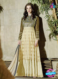 AZ 2034 Beige Embroidered Heavy Georgette Anarkali Suit