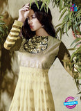 AZ 2034 Beige Embroidered Heavy Georgette Anarkali Suit - Anarkali Suits - NEW SHOP