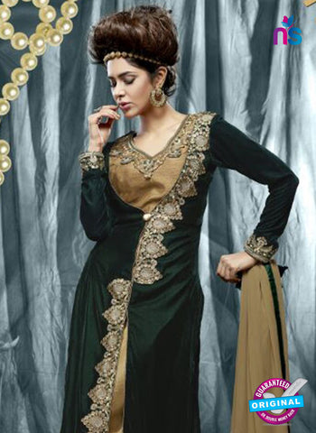 SC 14340 Green Velvet Party Wear Suit