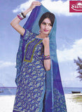 Sunshine 9004 B  Blue Color Cotton Designer Suit