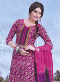 Sunshine 9004 C  Pink Color Cotton Designer Suit