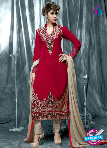 ISF 9004 Red Velvet Party Wear Suit