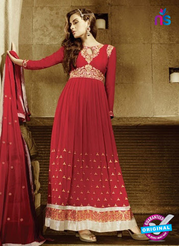 AZ 2035 Red Embroidered Heavy Georgette Anarkali Suit