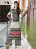 TM 9004  Multi Color Satin Cotton Designer Suit