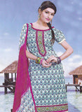 Sunshine 9005 B Multicolor & Pink Color Cotton Designer Suit