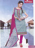 Sunshine 9005 B  Pink & white Color Cotton Designer Suit