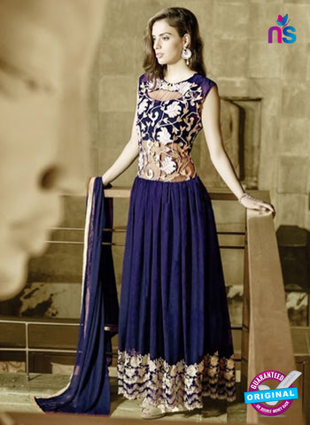 AZ 2037 Blue Embroidered Heavy Georgette Anarkali Suit