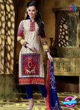 SC 12760 Multicolor and Blue Printed Pure Cambric Pakistani Straight Suit