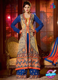 Shenoa 9009 Blue Faux Georgette Pakistani Suit