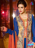 Shenoa 9009 Blue Faux Georgette Pakistani Suit Online