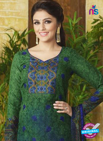 Rakhi 9009 B Green Pashmina Winter Suit