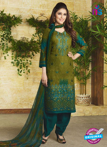 Rakhi 9011 A Green Pashmina Winter Suit
